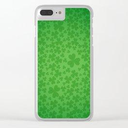 irish, ireland, shamrock, irish gifts women, luck of the irish, irish gift, three leaf clover Clear iPhone Case