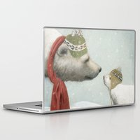 jon snow Laptop & iPad Skins featuring First Winter by Eric Fan