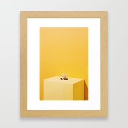 Mouse and Cheese Framed Art Print