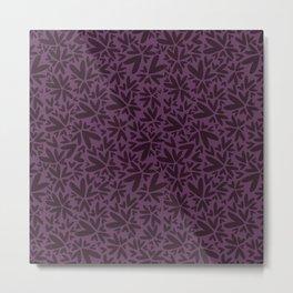Heart shaped pattern | Dark purple Metal Print