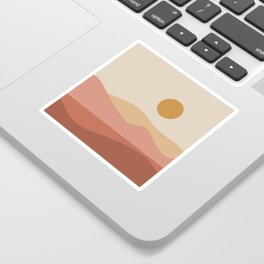 Geometric Landscape 23A Sticker