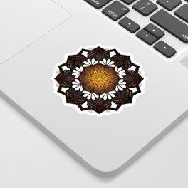 """Warm light Moroccan lantern Mandala"" Sticker"