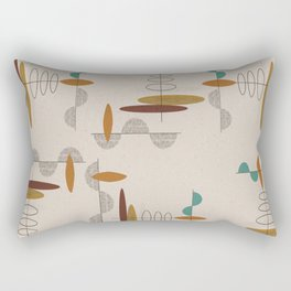 Mid-Century Modern Suspended Ovals Rectangular Pillow