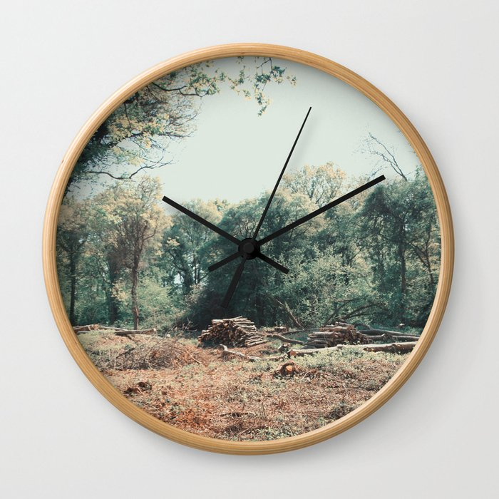 Woodchop ∆ Wall Clock