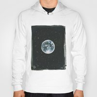 the moon Hoodies featuring Moon by Laia™