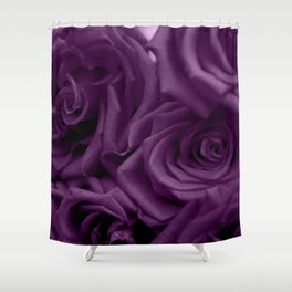 Bed of Roses - Purple Shower Curtain