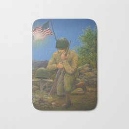 A Soldier's Goodbye Bath Mat