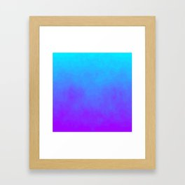Blue and Purple Ombre - Swirly Framed Art Print