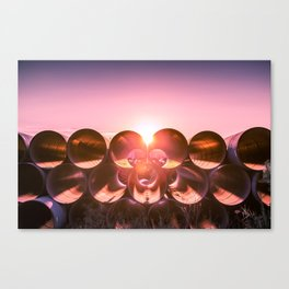 Industrial Sunset - Columbus, OH Canvas Print