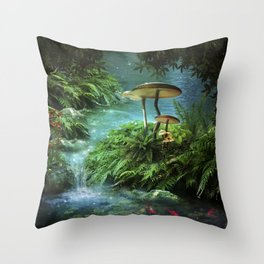 Enchanted Pond Throw Pillow