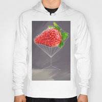 cocktail Hoodies featuring Strawberry cocktail  by Nobra