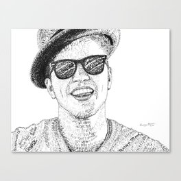 BrunoMars - Word Art Canvas Print
