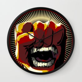 Fists of Rage Wall Clock