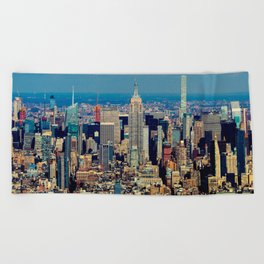 NYC Cityscape (Color) Beach Towel