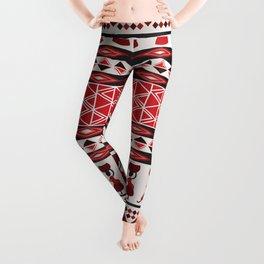 African Tribal Pattern No. 85 Leggings