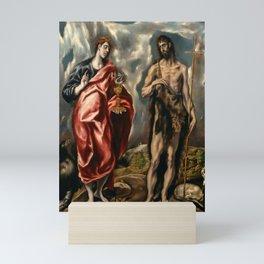 "El Greco (Domenikos Theotokopoulos) ""Saint John the Baptist and Saint John the Evangelist"" Mini Art Print"