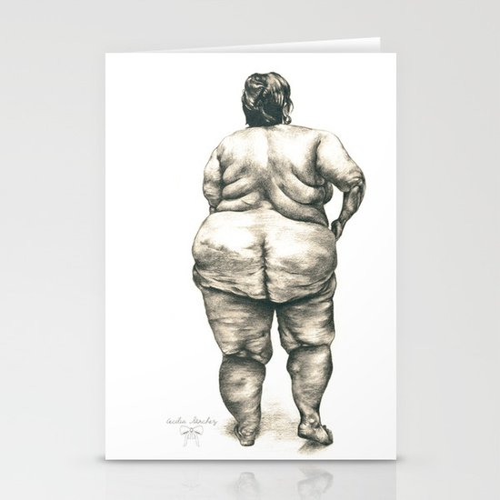 mujer en la ducha Stationery Cards