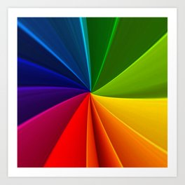 Spectrum colors Art Print