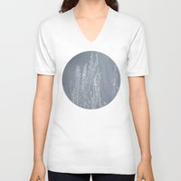 silver V-neck T-shirts featuring Silver by A Wandering Soul