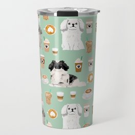Pekingese dog breed dog pattern pet portraits coffee food dog breeds pet friendly Travel Mug