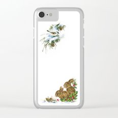 Winter in the forest- Animal Illustration Clear iPhone Case