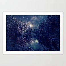 Winter Forest Deep Pastel Art Print
