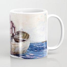 Winslow Homer1 - Shark Fishing,1885 - Digital Remastered Edition Coffee Mug