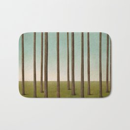 tree trunks and field in forest Bath Mat