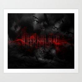 Supernatural darkness Art Print