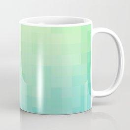 Mosaic Tropical Gradient - Emerald and Sapphire Coffee Mug