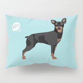 min pin miniature doberman pinscher farting dog cute funny dog gifts pure breed dogs Pillow Sham
