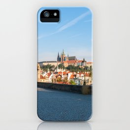 View of the Castle from Charles bridge in Prague iPhone Case