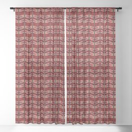 Dragonfly in Red Sheer Curtain