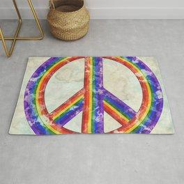 Rainbow Pride Peace Rug