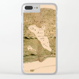 Map Of The Bahamas 1750 Clear iPhone Case
