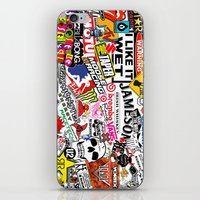 sticker iPhone & iPod Skins featuring Sticker Bomb by SOPHIA FREITAS