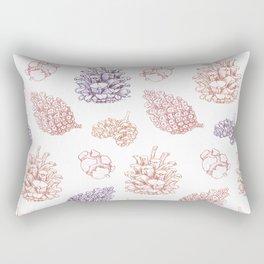 winter cone pattern II Rectangular Pillow