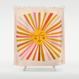 Sunshine – Retro Ochre Palette Shower Curtain