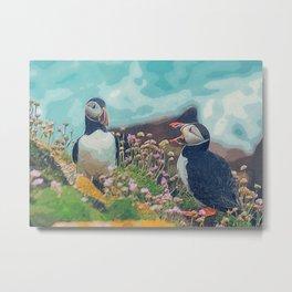 Penguin print Metal Print