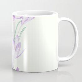purple botanical crocus flowers Coffee Mug