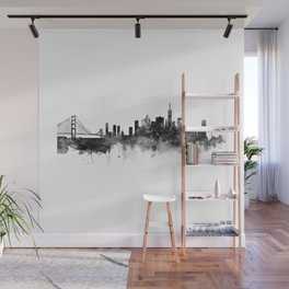 San Francisco Black and White Wall Mural