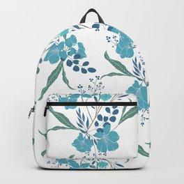 Blue Tropical Flower Transparent Backpack
