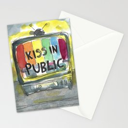 kiss in public Stationery Cards