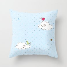 cotton cloud Throw Pillow