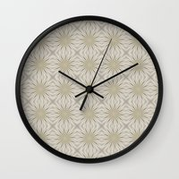 sparkles Wall Clocks featuring Sparkles by Lena Photo Art