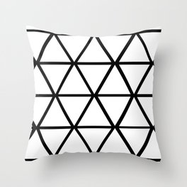 WHITE & BLACK TRIANGLES  Throw Pillow