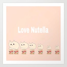 cats and nutella 314 Art Print