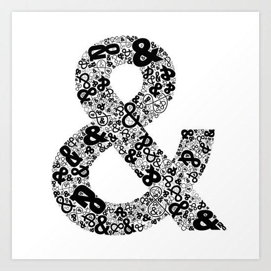 Helvetica Ampersand  Art Print