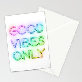 Neon Good Vibes - Rainbow Stationery Cards