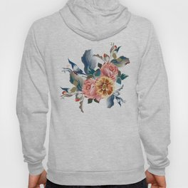 Retro design in English Victorian floral style Hoody